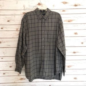 Nautica Gray Flannel Button Down Shirt
